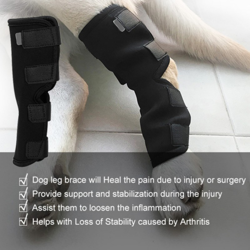 Dog Recovery Sleeve Large Black Bandage Accessories Puppy Dogs Protect Leg Clothes
