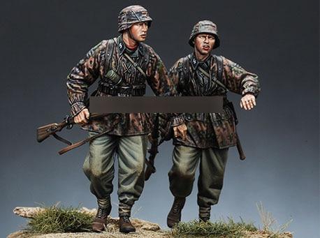 1/35 Resin Figures WWII Infantry Soldier 2pcs/set Model Kits