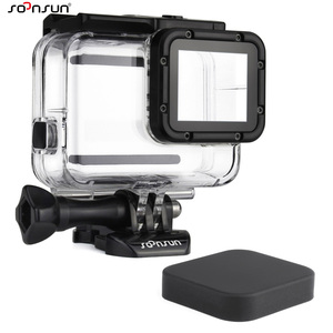 Image 1 - SOONSUN Waterproof Housing Underwater Diving Protective Case w/ Drawstring Bag for GoPro Hero 5 6 7 Black for Go Pro Accessories
