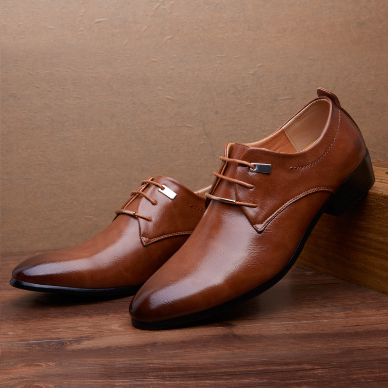Brown Tan Black Mens Wedding Shoes Fashion Business Genuine Leather Dress Oxfords 65 In Women S Flats From On