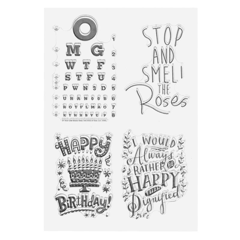 Blessing Word Visual Chart Transparent Silicone Stamp Clear Stamp for Scrapbooking DIY Craft Album Diary Book Paper Card Decor lovely bear and star design clear transparent stamp rubber stamp for diy scrapbooking paper card photo album decor rm 037