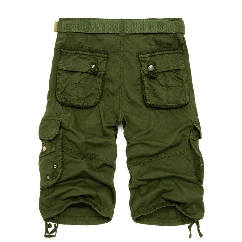 87 Camo Military Shorts Bermuda Summer Camouflage Cargo Shorts Men Cotton Loose Tactical Short Pants No Belt
