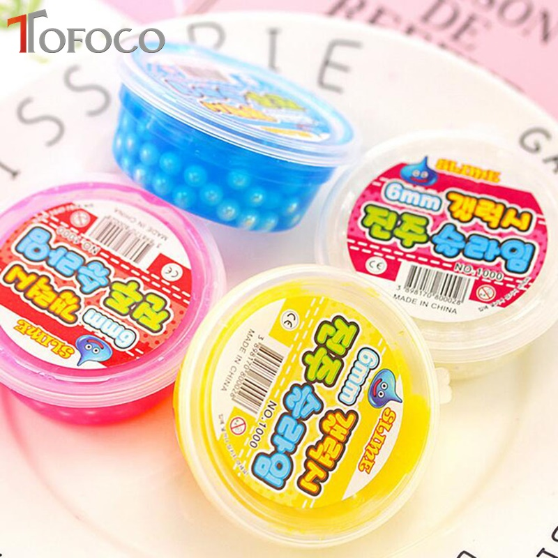 TOFOCO-Foam-Clear-Fluffy-Slime-DIY-Crystal-Lizun-Dough-Anti-Stress-Sludge-Toy-Cotton-Mud-Plasticine-Modeling-Clay-for-Kids-Gift-4