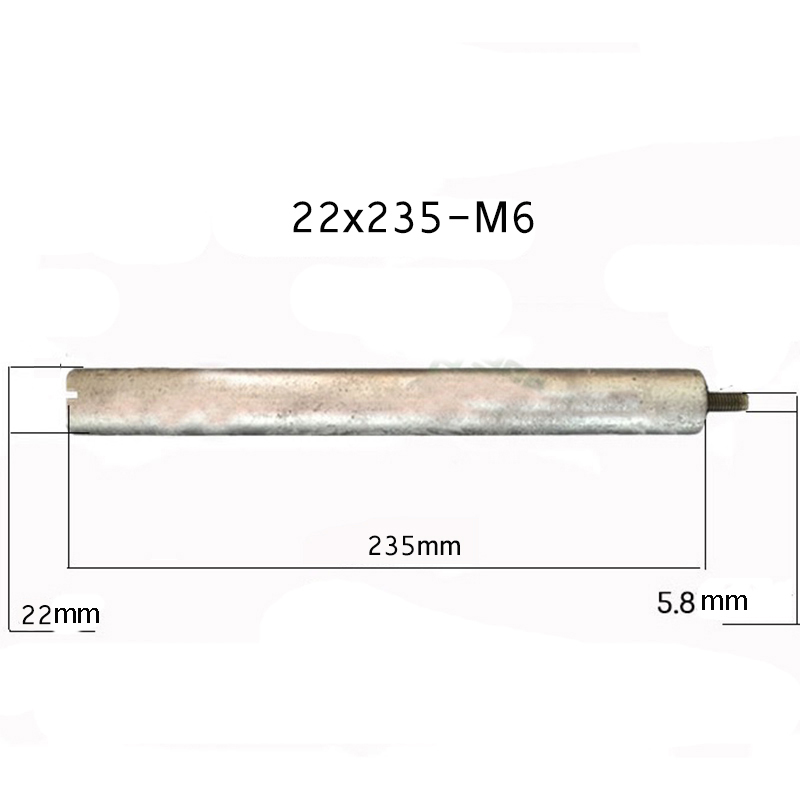 22 235mm M6 Magnesium Anode Rod for Solar Water Heater Systems With 1 quot Copper Nut in Gas Water Heater Parts from Home Appliances
