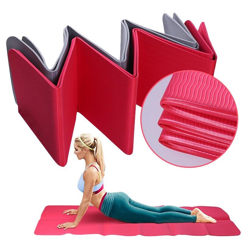 Tapis se pliant épais de voyage d'exercice de TPE de tapis de Yoga de 6 MM léger insipide pour le gymnase mince de Yoga de forme physique Pilates