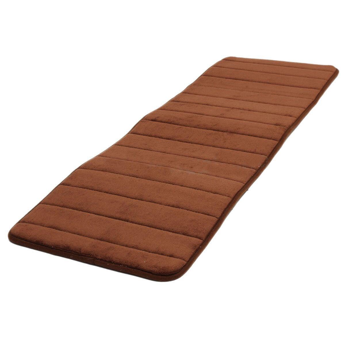120x40cm Absorbent Nonslip Memory Foam Kitchen Bedroom Door Floor Mat Rug Carpet Coffee
