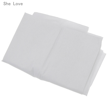 Chzimade 100cm 25g 45g White Non-woven Fabric Interlinings Iron On Sewing Patchwork Single-sided Adhesive Lining DIY 2