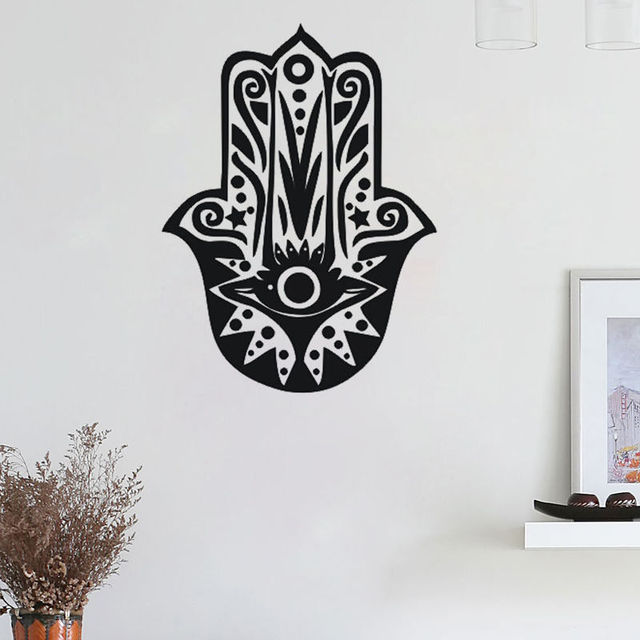 Hamsa Removable Vinyl Wall Stickers Home Art Decoration Wallpaper Mural Decal Perfect Quality Tattoo