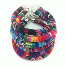 LEMOER Bohemian Handmade Colorful Knitted Ribbon Bracelets Bangles Ethnic pulseira feminina pulseras Bijoux for Women Jewelry(China)