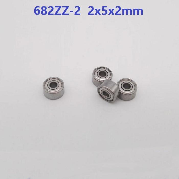 500pcs lot 682ZZ 2 deep groove ball bearings Miniature Mini bearing 2x5x2mm 2 5 2mm