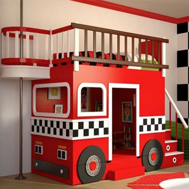 High Quality Customized Beautiful Children's Bed, American Bed,  Fire Fighting Bed From China