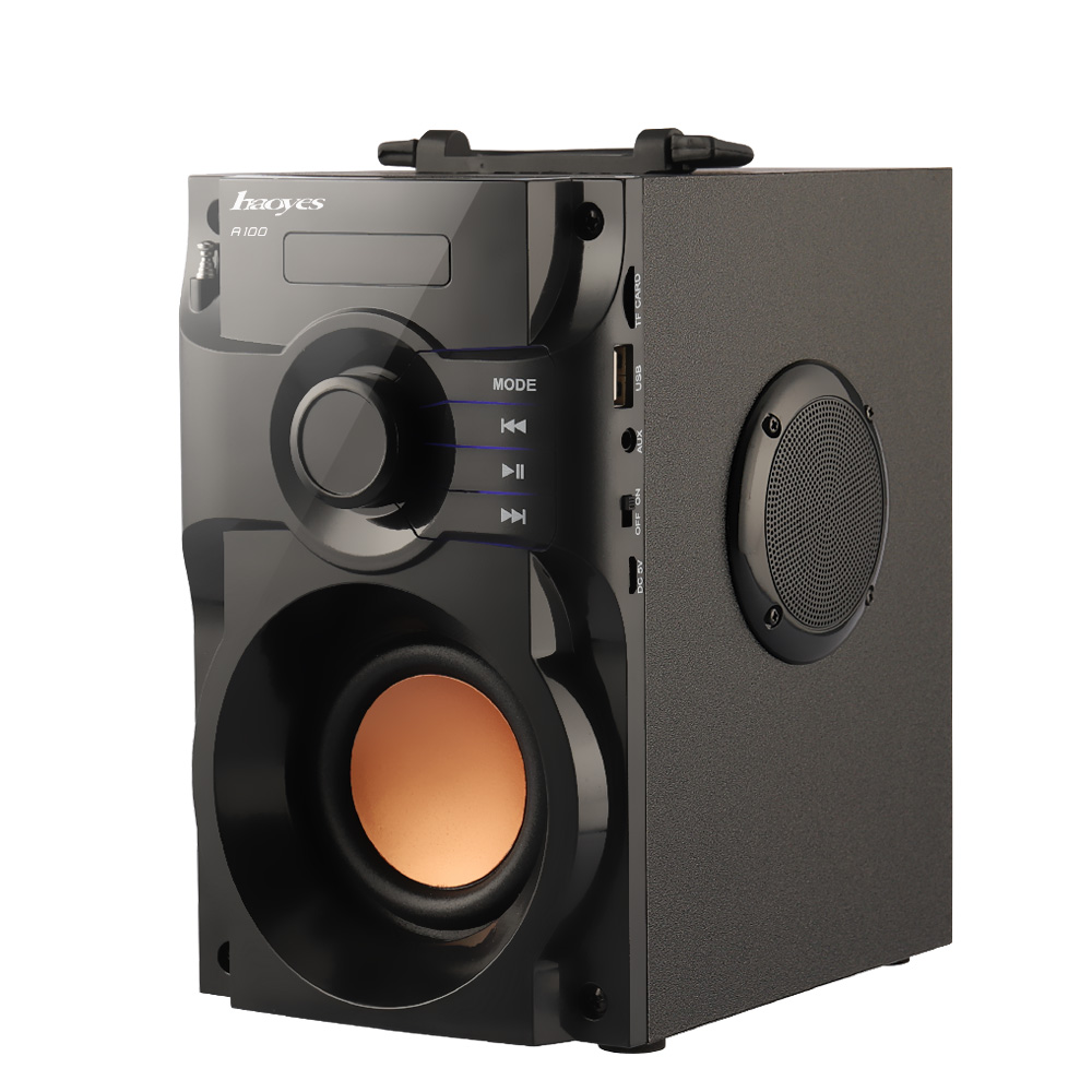 Column Bluetooth Speaker Music Subwoofer Super Bass Wireless Speakers Dancing Boombox Sound Box Support FM Radio TF AUX USB-in Portable Speakers from Consumer Electronics    1