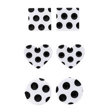 Polka Dot Earrings Black White Geometric Round Square Heart Statement Stud Earring For Women Fashion Jewelry Gift Whole