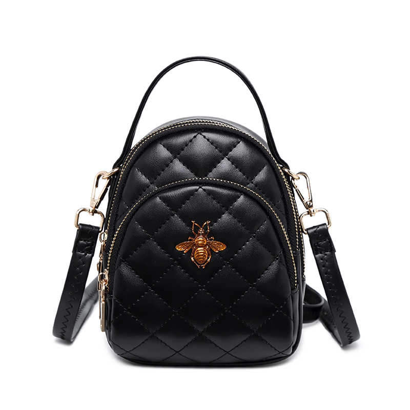 Модная куртка с надписью «Mini рюкзаки для женская, с бриллиантами, плетеная из искусственной кожи рюкзак для девочек пчелы Для женщин рюкзак черный женские рюкзаки Mujer 2018