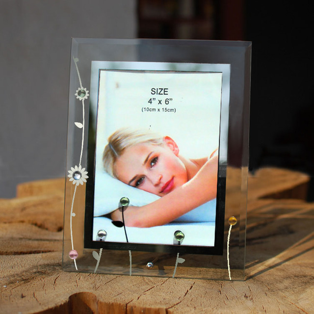 Korean beautiful 6 inch 7 inch glass frames seven inch crystal swing ...