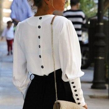 blouse blanche élégante boutons dans le dos kate et james