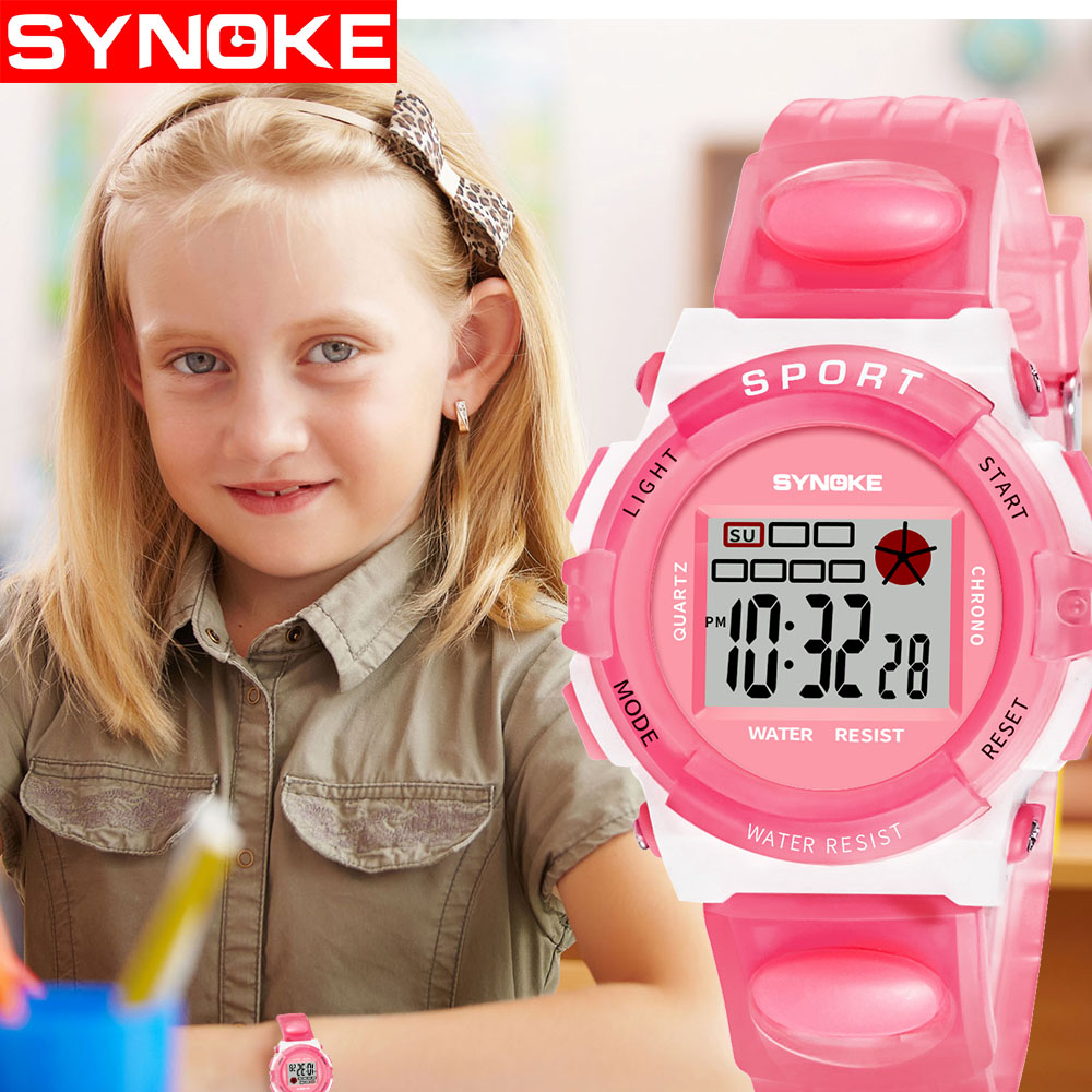 Transparent Fashion Camouflage Kids Child Boys Girls Multifunction Waterproof Sports Electronic LED Digital Watches Dropshipping все цены