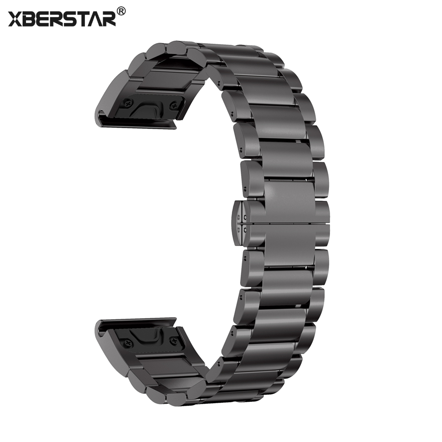 XBERSTAR Stainless Steel Strap for Garmin Fenix 5 Replacement Watchband for Garmin Forerunner 935 Band Quick Release Connector фара fenix bc21r
