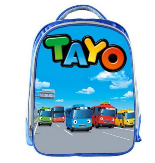 Image 2 - TAYO Bus Blue School Bags for Teenagers Cartoon Cars 13 inch 3D Printing Boys Girls Children Backpack Kids School Bag-in School Bags from Luggage & Bags