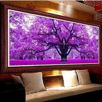 The Most Beautiful Season Of Love Purple Tree Diy Diamond Mosaic Painting Diamond Cross Stitch 5d