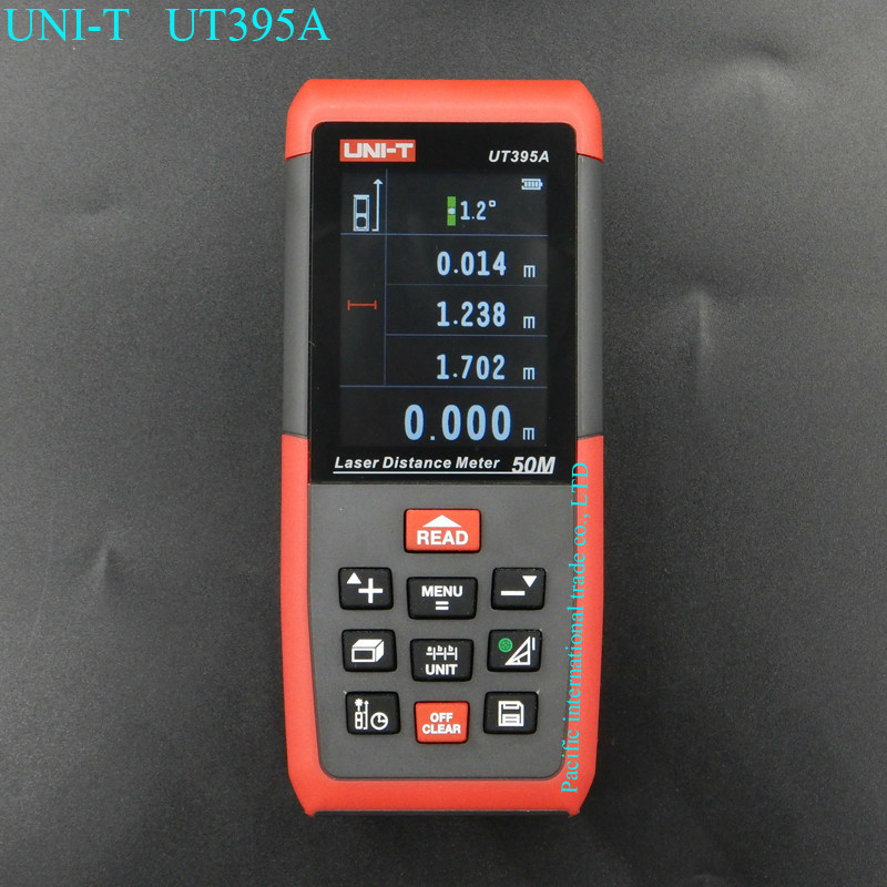 UNI-T UT395A Professional Laser Distance Meters 50M Laser Range finder Digital range finder Measure Area/volume Tool laser range finder 40m 60m 80m 100m digital laser distance meter tape area volume angle engineer measure construction tools