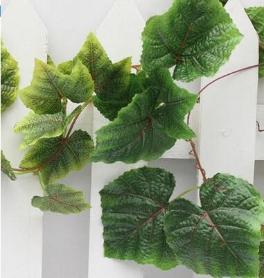 Vīnogulāju vīnogu lapas piekārto sienu dekoratīvo griestu ziedu - Svētku piederumi