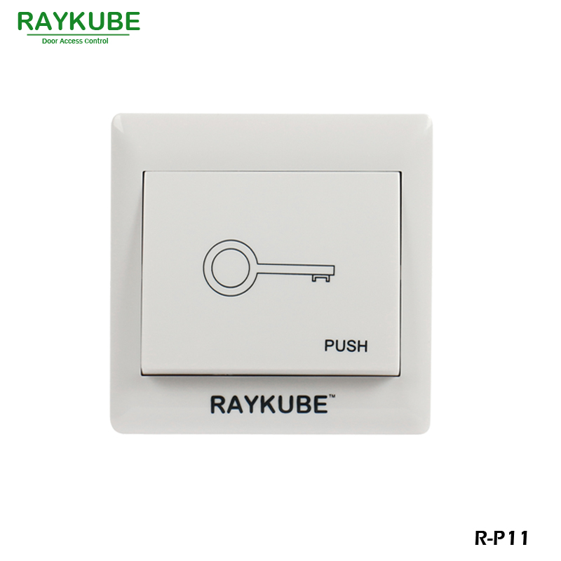 RAYKUBE Exit Push Button Switch For Door Access Control System R-P11
