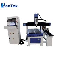China AccTek Mini cnc wood router 3 axis 4 axis 5 axis milling machine for metal aluminum 1.5kw water spindle