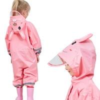 85-110 CM impermeabile impermeabile per i bambini bambini bambino cappotto di pioggia poncho ragazzi ragazze studenti della scuola primaria Siamese pioggia vestito