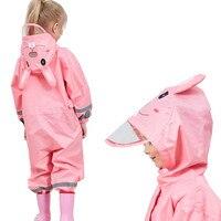 85-110CM waterproof raincoat for children kids baby rain coat poncho boys girls primary school students Siamese rain suit