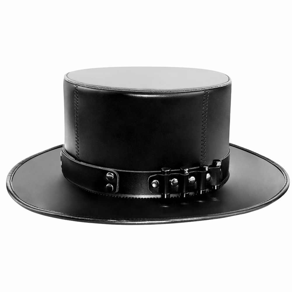 Gear Duke Steampunk PU Kulit atau Netral Mengenai Saham Pesta Dansa Cosplay Topi Wabah Dokter Topi Ajaib Prop Pria Topi Fedoras Topi Vintage