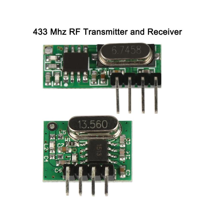 Universal 433MHz RF Relay Receiver Module And Transmitter Module DIY Smart Learning Remote Control System Switch Set for Garage