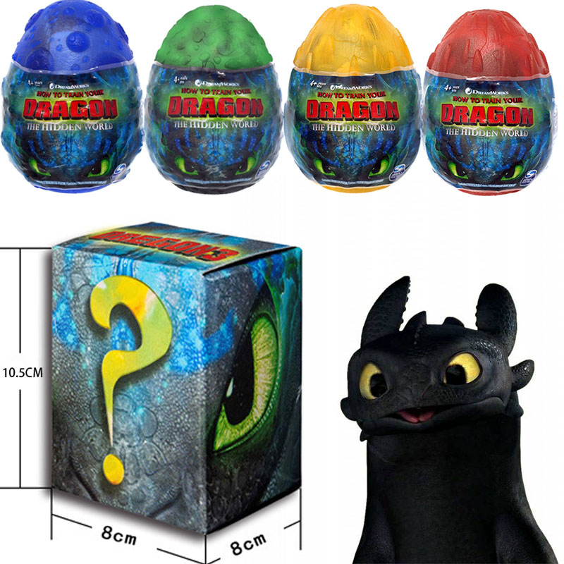 NEW 2019 How To Train Your Dragon Egg Light Fury Toothless Action Figure Hiccup White Dragon Toys For Children's Birthday Gifts