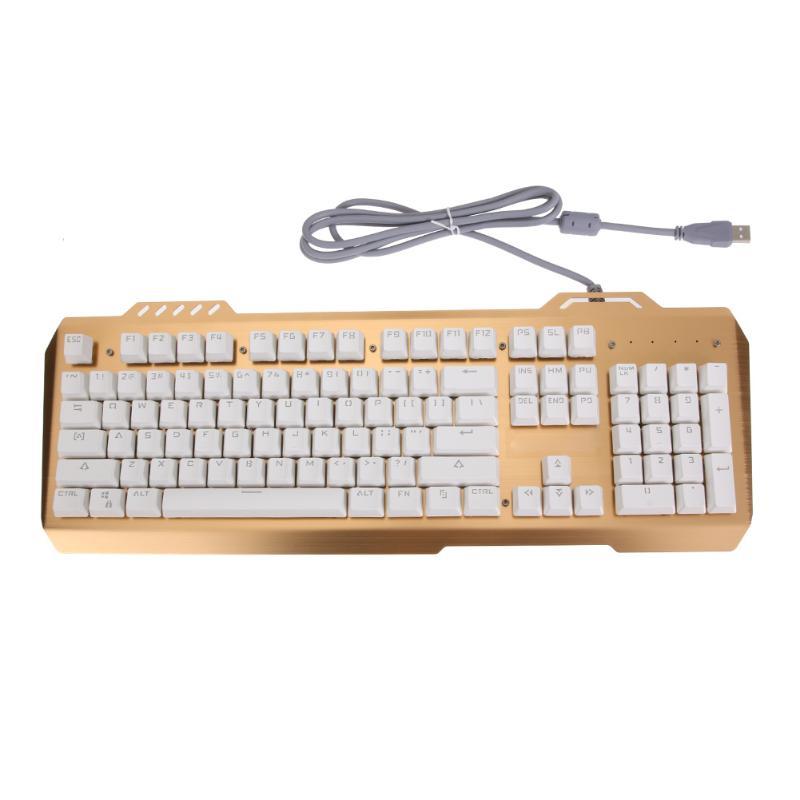 104 Keys Professional Mechanical Keyboard All Keys Anti-Ghost Adjustable LED Backlight USB Wired Gaming Keyboard 7 colors led backlight single hand professional gaming keyboard usb wired anti ghosting keyboard for game