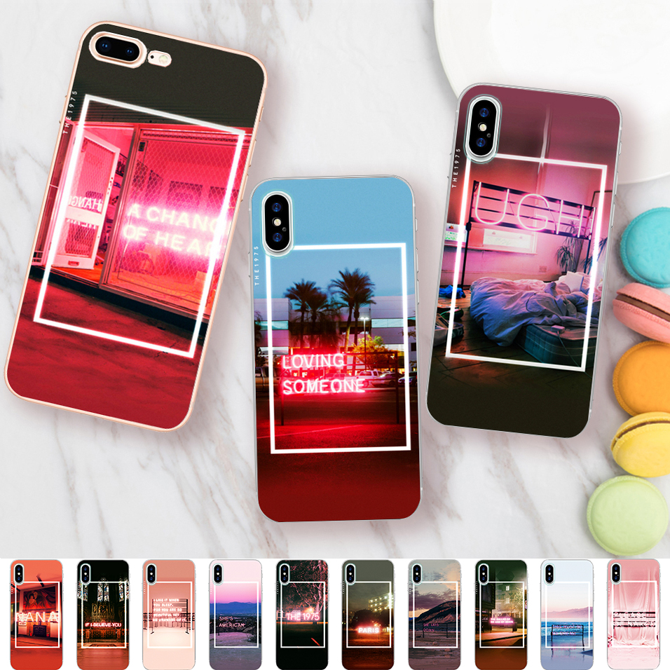 Minason The 1975 Songs Case for iPhone X 5 S 5S 6 6S 7 8 Plus Cover Clear Capas Soft Silicone Phone Fundas Capinha Coque