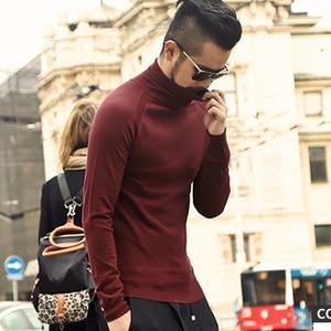 Image 2 - Zimowy sweter męski sweter marki nowy gruby ciepły sweter sweter męski dorywczo komputer dzianinowe swetry Slim Fit dzianina J541