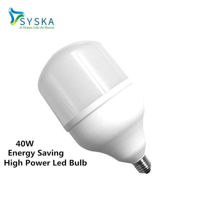 Bombilla Big Lamp E27 220V 40W High Power LED Energy Saving Bulb Cold White Pendant Lighting for Home Lighting 2017102