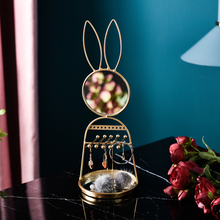 Ins Nordic Style Desktop Rabbit Jewelry Rack Makeup Mirror Multi-purpose Collectionr Storage Girl Holders
