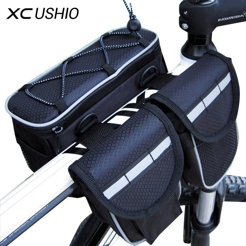 Mountainbike Fahrrad Rahmen Rohr Tasche Fahrrad Zubehör 4 in 1 Radfahren Pouch Taschen Sport Radfahren Packtaschen Taschen Telefon Behälter