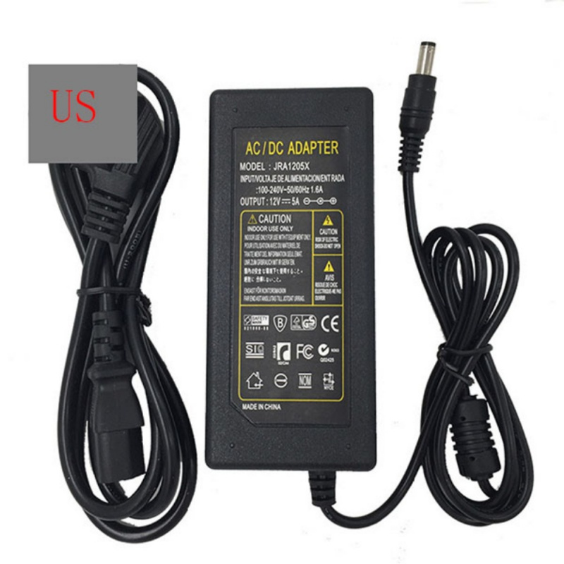 High Quality US Plug <font><b>Notebook</b></font> Laptop Power Supply Charger <font><b>Transformer</b></font> Adapter DC 12V 5V 60W Power image