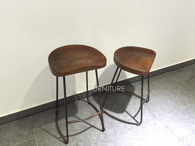 Moderno e minimalista design solido legno e metallo gamba in