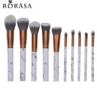 10Pcs Marbling Makeup Brushes Set Powder Foundation Eyeshadow Cosmetic Tools Marble Texture Makeup Brush Eyes Concealer