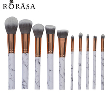 10Pcs Marbling Makeup Brushes Set Powder Foundation Eyeshadow Cosmetic Tools Marble Texture Makeup Brush Eyes Concealer Brush 3