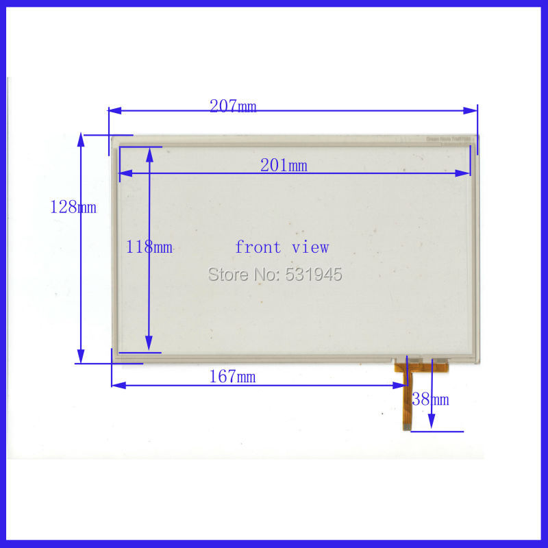 NEW 8 Inch TouchScreen207*128 207mm*128mm for industry applications GLASS on display Dream Novia TrioRT089