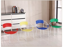 living room chair yellow red color stool retail wholesale free shipping furniture shop children stool