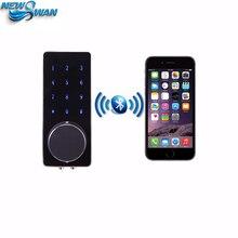 Мобильный Bluetooth Замки Deadbolt Вход Умный Электронной Цифровой Дверной Замок С Ключом Пульт Дистанционного Клавиатура Для дома гостиницы OS8815BLE