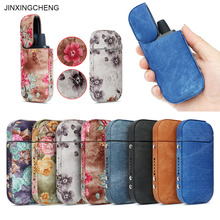JINXINGCHENG Case for IQOS 2.4 Plus Cover  Leather Pouch Bag Flower Protective Holder