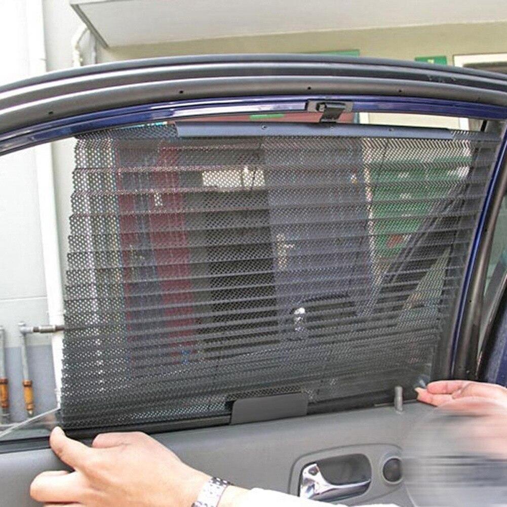 Car interior curtains - Car Window Sunshade Curtain Black Side Rear Window Mesh Visor Shield 60cm X 46cm Car Side