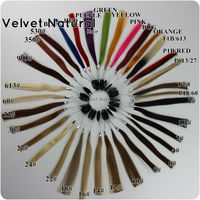 1 Set 100 Human Hair Color Ring For Hair Human Hair Chat Reference To Choose Different