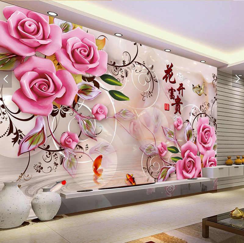 Qianzehui, Diamant Borduurwerk, Ronde Diamant Jade Gesneden Rijke Rose Vol Strass 5D Diamond Schilderen Cross Stitch, Handwerken